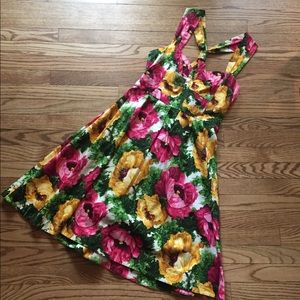 London Times Floral A-Line Halter Dress